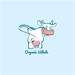 牛奶制品食品公司矢量logo設計素材