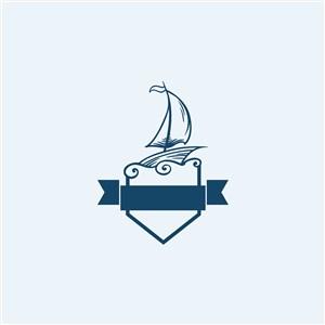 海上旅游矢量logo素材船图标