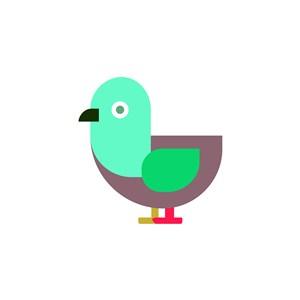鳥圖標設計傳媒矢量logo素材