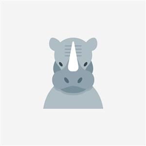 犀牛图标网络科技公司logo素材