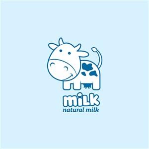 牛奶乳制品公司矢量logo設計素材