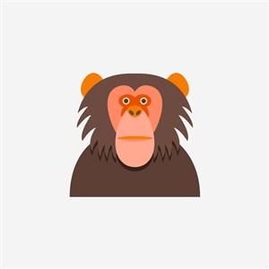 設計傳媒矢量素材猩猩圖標