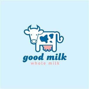 鮮奶乳制品公司矢量logo設計素材