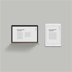 iPad笔记本电脑贴图样机素材