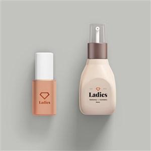 按压泵瓶化妆品护肤品样机素材