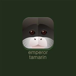 皇狨猴矢量圖標設計傳媒logo素材