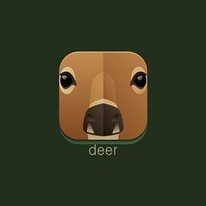 鹿矢量圖標設計傳媒logo素材