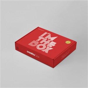 紅色高檔禮盒包裝樣機