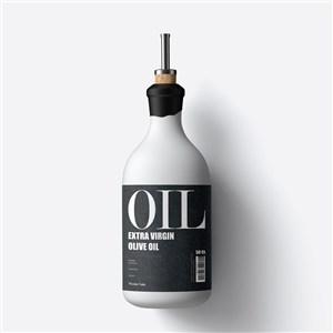 食品包装瓶子创意橄榄油包装样机
