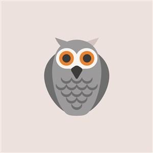 貓頭鷹圖標服裝公司logo素材