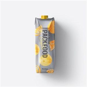 果汁饮料牛奶盒真空包装样机