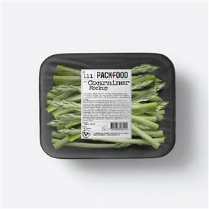 透明塑料密封蔬菜包装样机