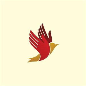 科技公司矢量logo设计素材鸟图标