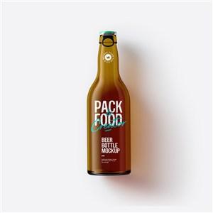 瓶子玻璃瓶酒瓶创意啤酒瓶样机