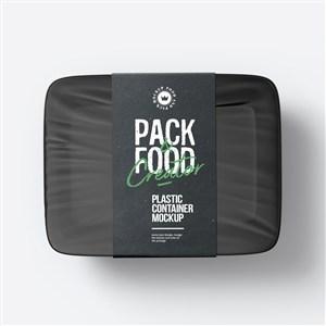 透明塑料密封食品包装盒样机模板