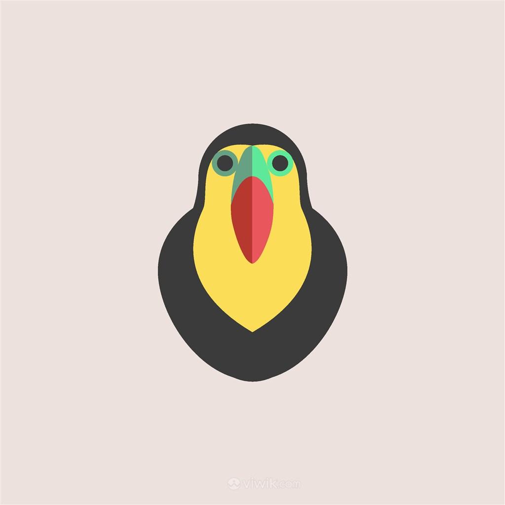 酒店旅游矢量logo素材鸟图标
