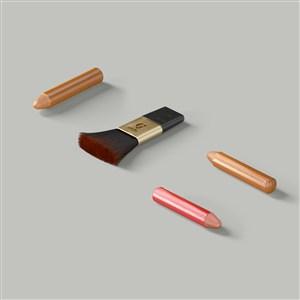 化妆刷笔样机素材