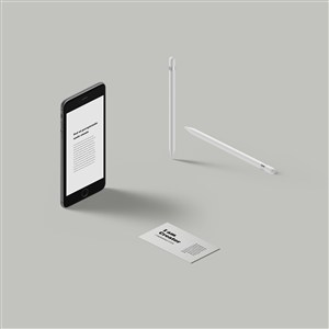 iPhone 名片 Apple Pencil样机素材