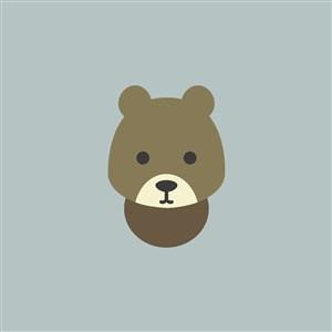 熊图标玩具店矢量logo素材