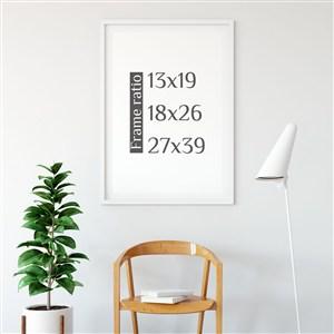 工作室休闲区背景墙装饰画画框样机