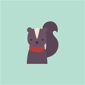 臭鼬矢量图标设计传媒logo素材