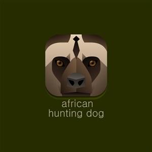 猎犬图标运动休闲矢量logo素材