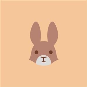 兔子圖標餐飲公司矢量logo設計素材