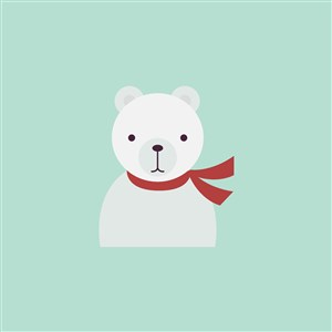 白熊图标服饰店矢量logo素材