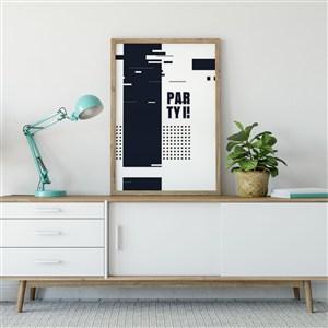 方形实木装饰画画框相框样机