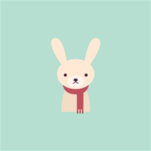 服裝公司矢量logo素材兔子圖標