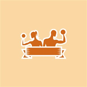 健身房矢量logo设计素材
