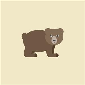 熊矢量圖標設計傳媒logo素材