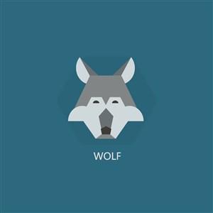 狼矢量圖標服裝公司logo素材