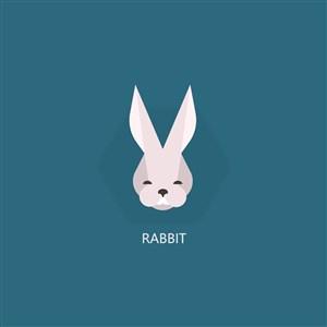 兔子图标水果茶店矢量logo素材