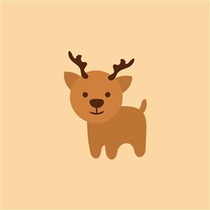 鹿圖矢量標服裝公司logo設計素材