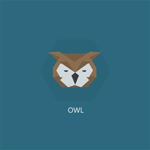 猫头鹰图标网络科技公司矢量logo设计素材