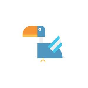 家具公司矢量logo設計素材鳥圖標