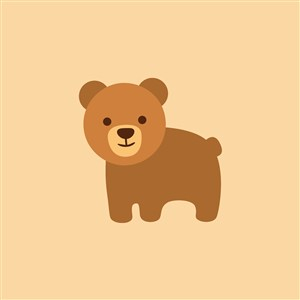 熊图标毛绒玩具公司矢量logo素材