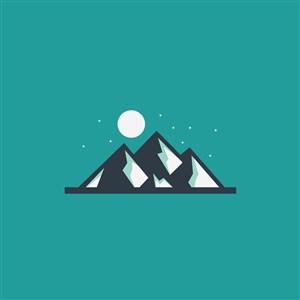 登山运动野外露营矢量logo设计素材