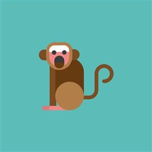 猴子矢量圖標服裝公司logo素材