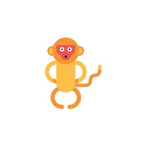 金絲猴圖標休閑零食矢量logo素材