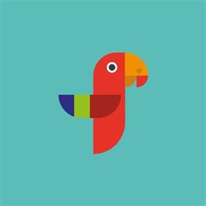 彩色鹦鹉图标家居地产公司矢量logo素材