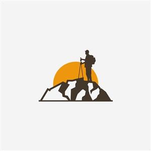 户外登山运动矢量logo设计素材