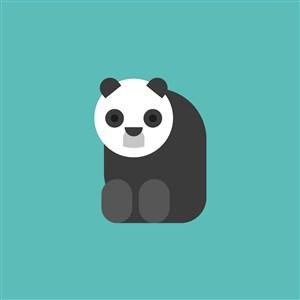 大熊貓圖標家具公司矢量logo素材