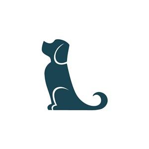 狗圖標寵物店矢量logo設計素材