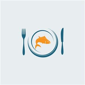 海鲜餐厅矢量logo设计素材