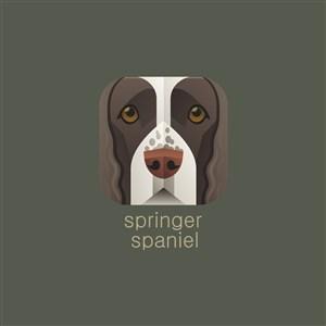 斯普林格獵犬矢量logo圖標