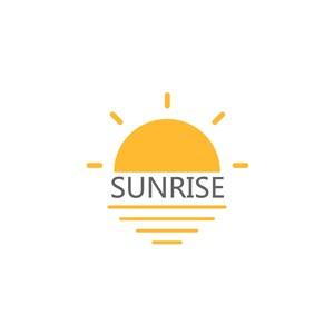 太陽矢量圖標登山旅游logo素材