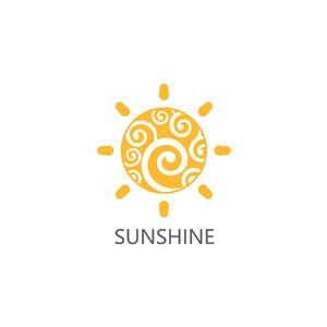 太陽矢量圖標設計傳媒logo素材
