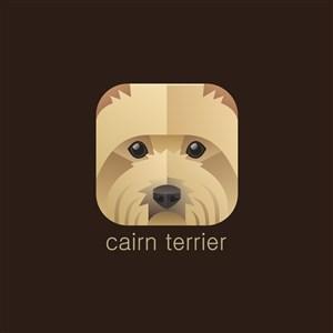 凯恩猎犬图标狩猎运动矢量logo素材